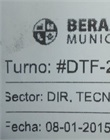 Ticket de turno
