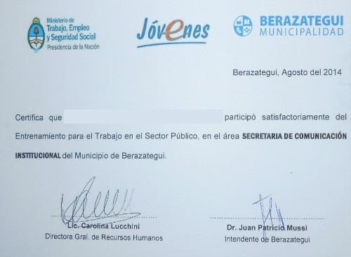 Gu a de tr mites berazategui for Municipalidad de avellaneda cursos